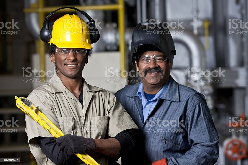 Factory workers royalty-free stock photo