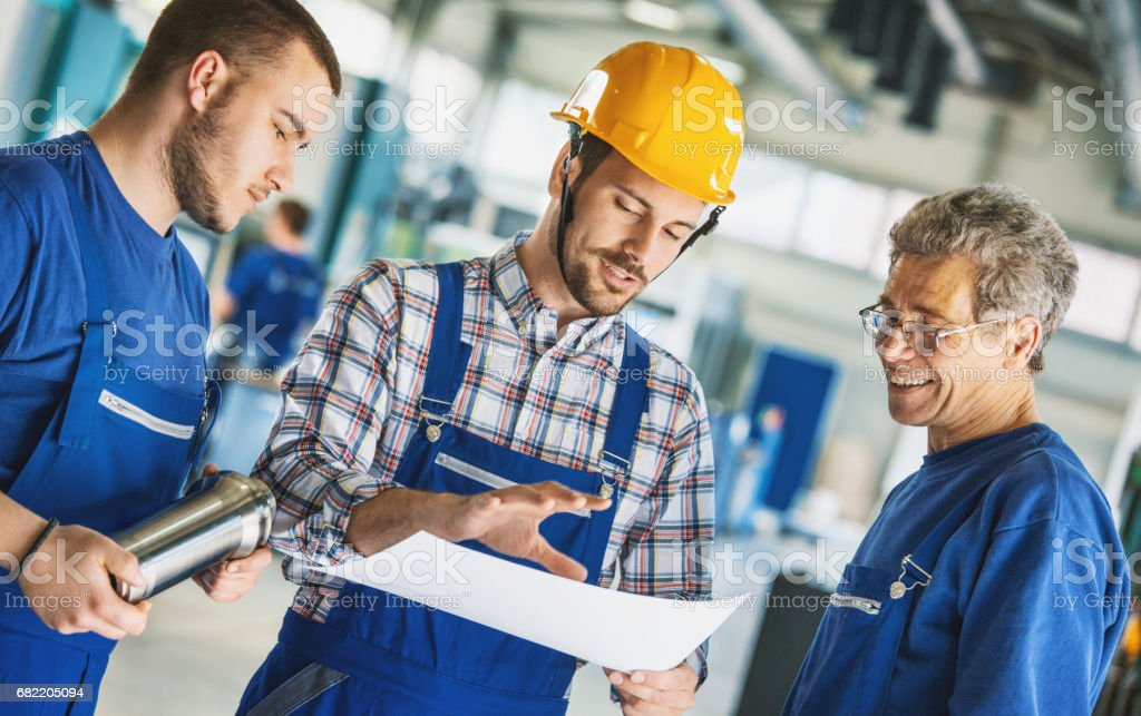 Fabrikarbeiter. – Foto
