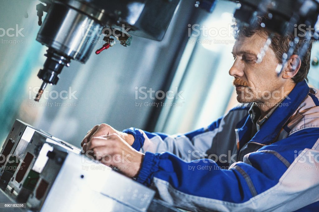 Factory workers. stock photo