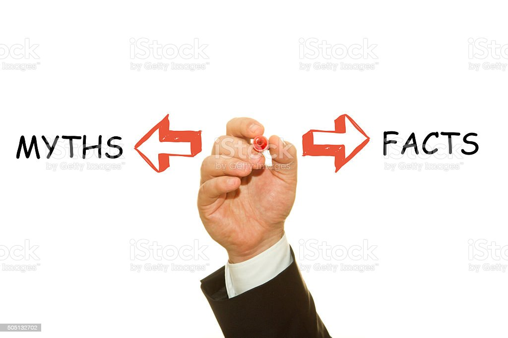 Facts and Myths stock photo