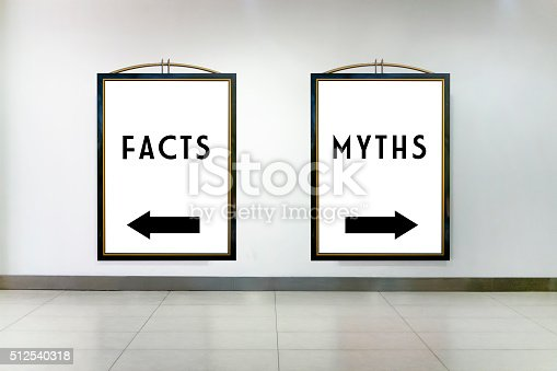 istock Facts or Myths Concept on Two Billboards 512540318