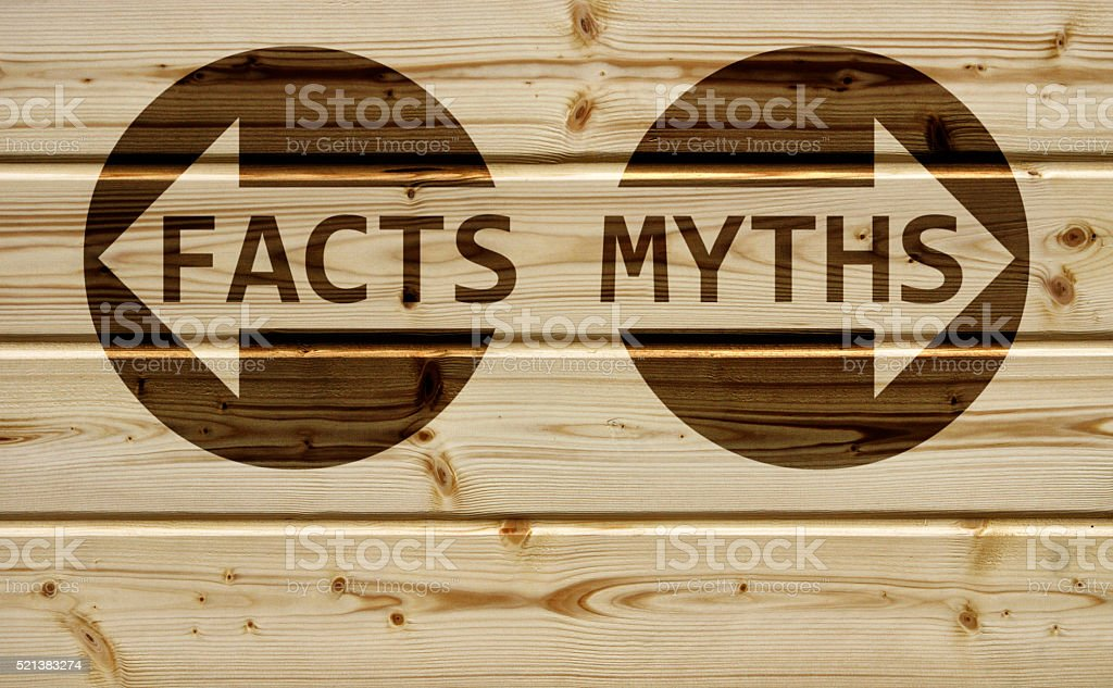 Facts or Myths stock photo