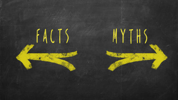 Facts vs Myths stock photo