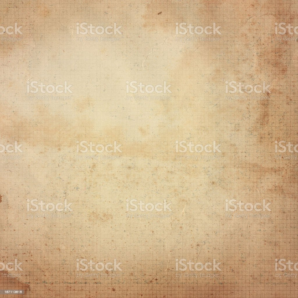 faded and stained graph paper with vignette royalty-free stock photo