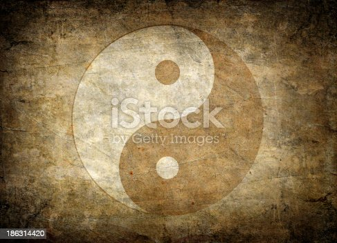 istock Faded away image of the symbol of balance, yin yang 186314420