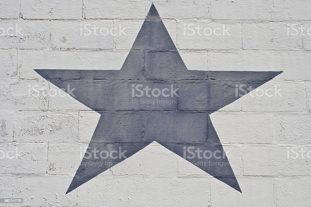 Faded Blue Star royalty-free stock photo