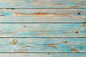 Faded blue wooden planks background