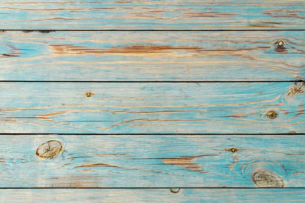 Gefirlte blaue Holzplanken Hintergrund – Foto