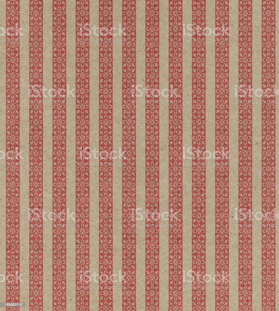 faded brown and red striped paper stock photo