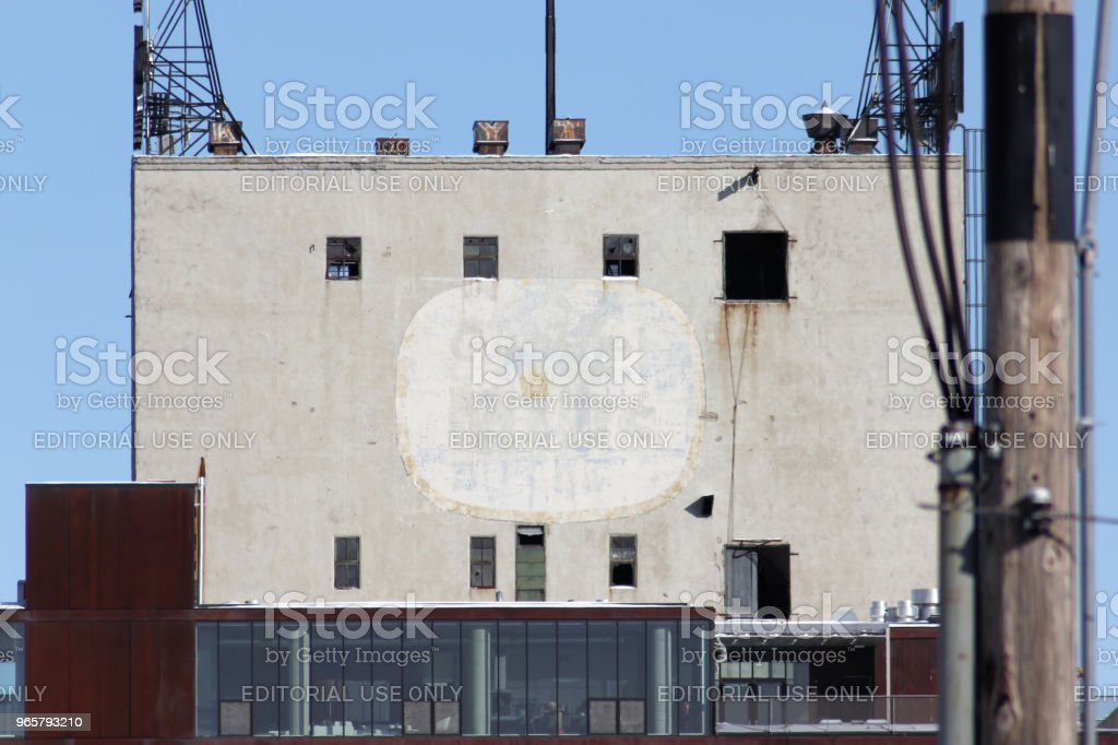 Faded General Mills advert on the side of a building - Royalty-free 2011 Stock Photo
