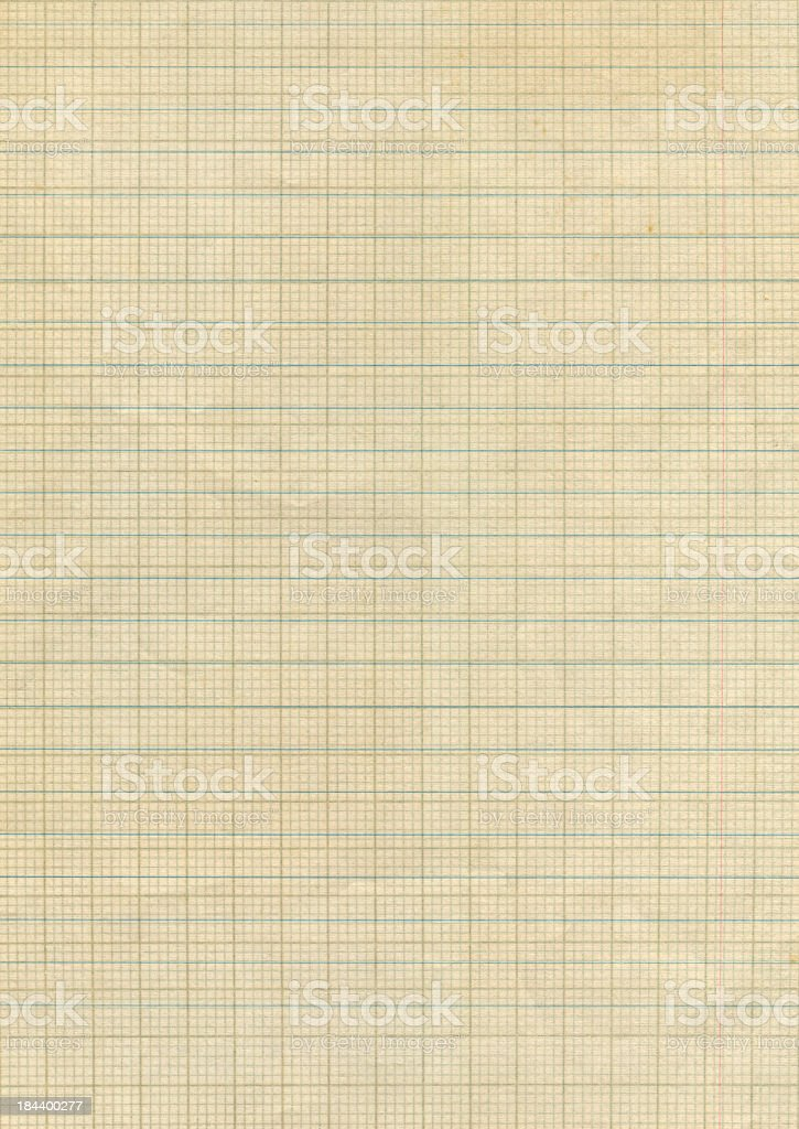 faded graph paper royalty-free stock photo