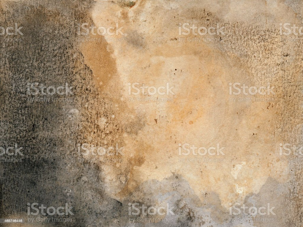 Faded gray and beige watercolor background stock photo
