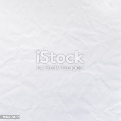 This digital image features bright light faded grey white wrinkled surface of paper. Image includes a standard license along with the option of upgradeable extended license.