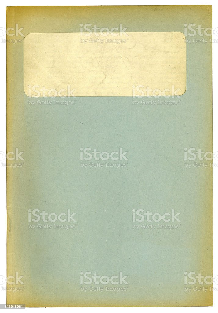 Faded old file with window royalty-free stock photo