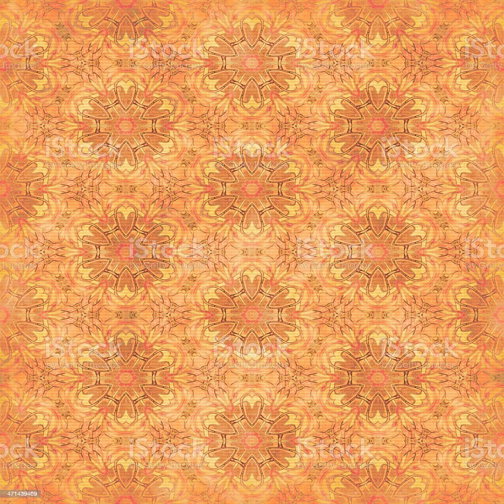 Faded Orange Textile Pattern | Wallpaper Designs and Fabrics stock photo