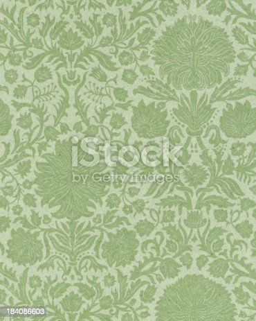 istock faded paper with floral ornament 184086603