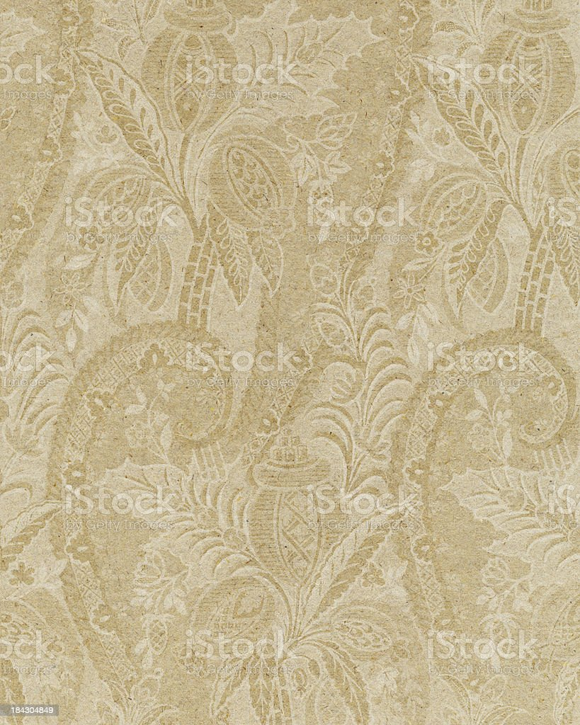 faded paper with floral ornament royalty-free stock photo