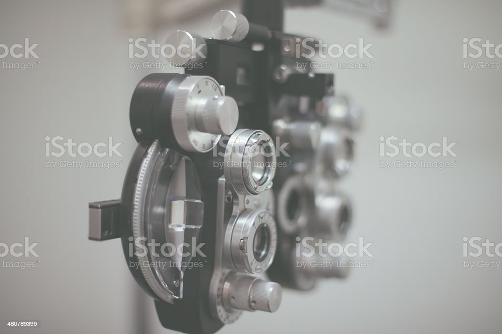 Faded Phoropter stock photo