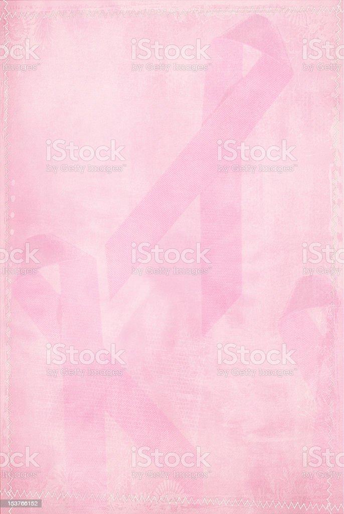 Faded Pink Ribbon stock photo