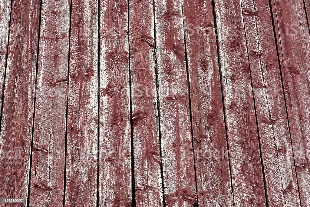Faded red weathered plank detail from an old barn stock photo