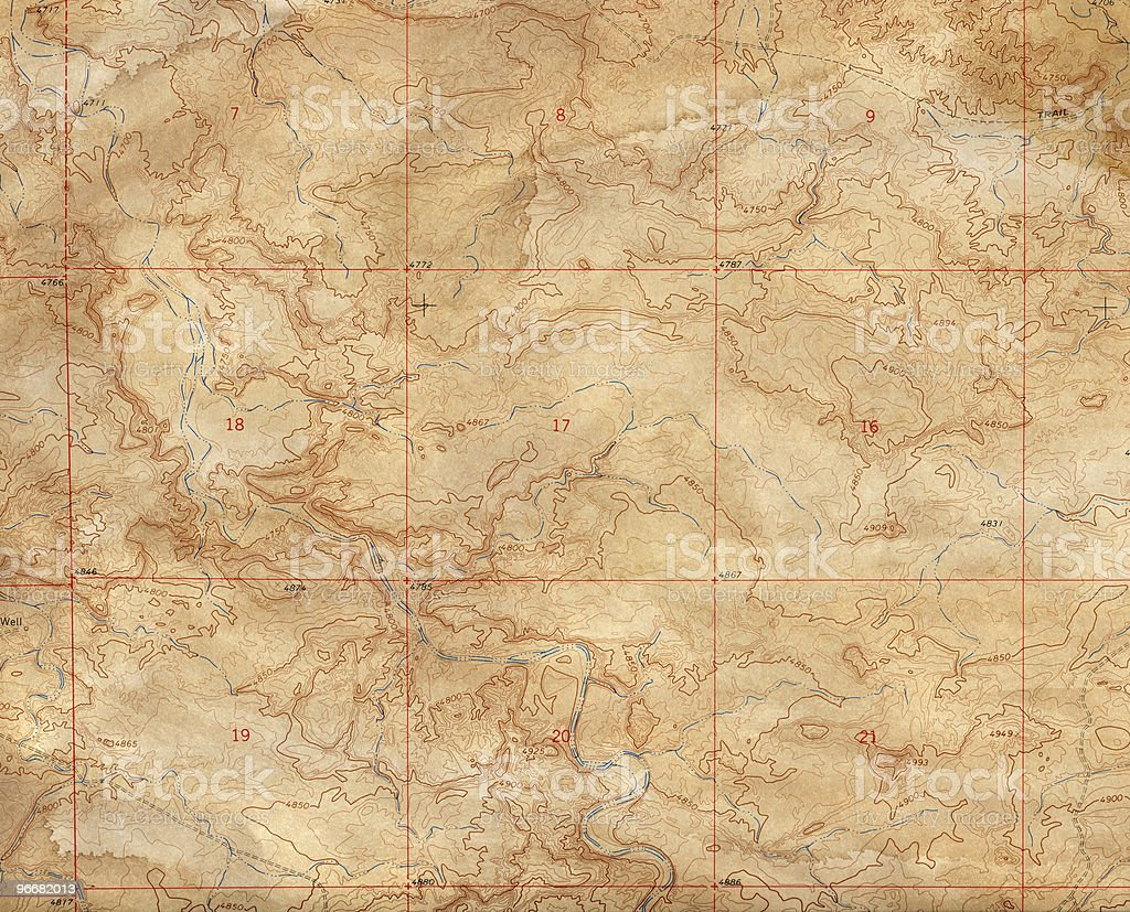 Faded Topographical Background royalty-free stock photo
