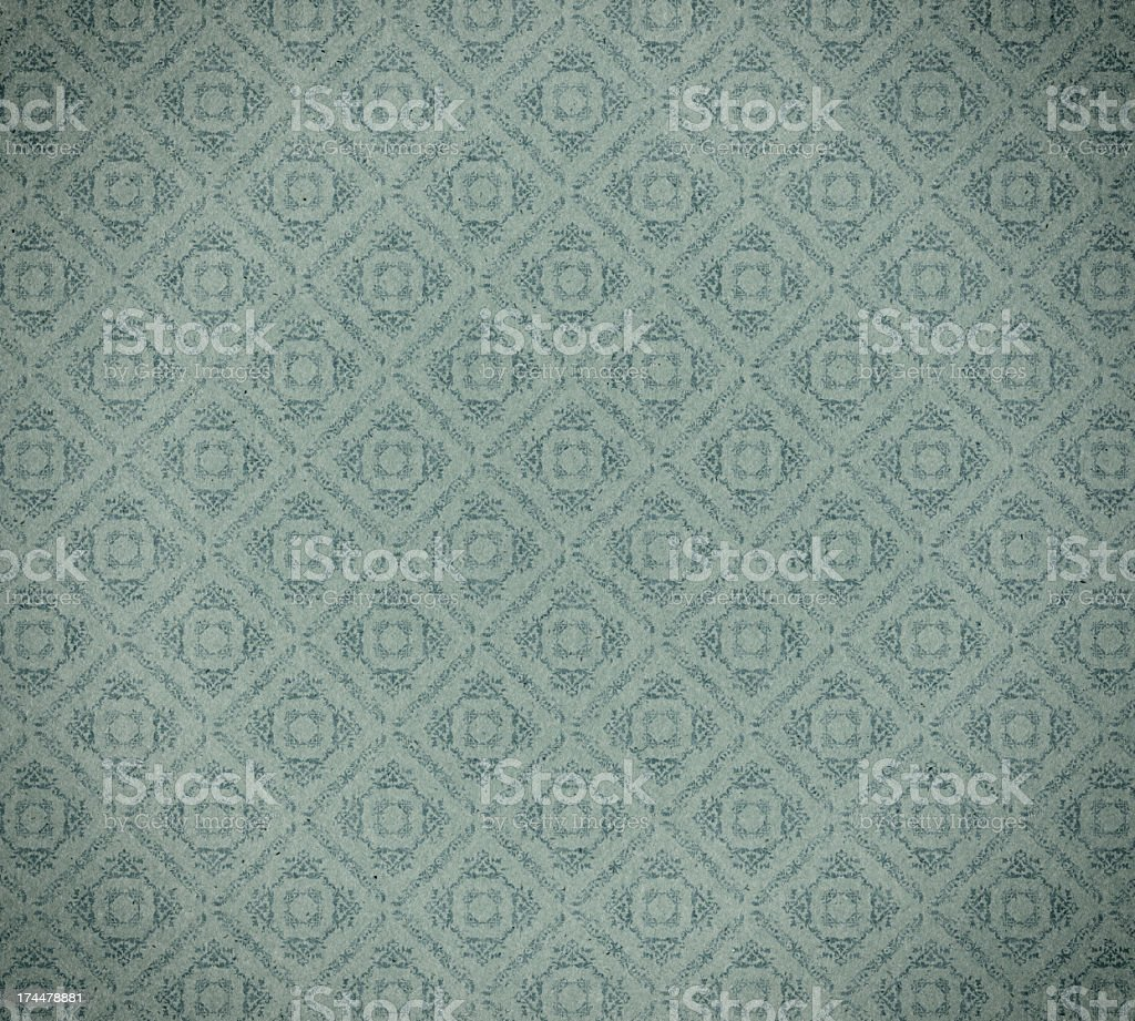 faded wallpaper with checked floral pattern royalty-free stock photo