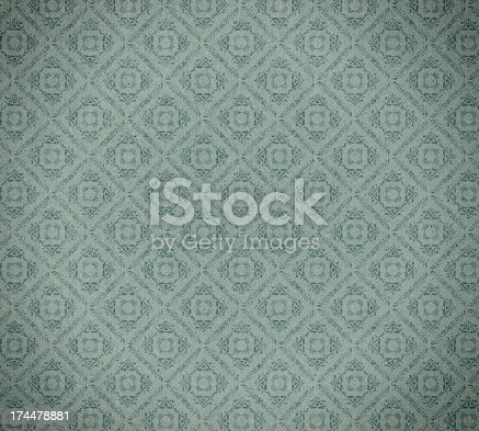 480646533 istock photo faded wallpaper with checked floral pattern 174478881