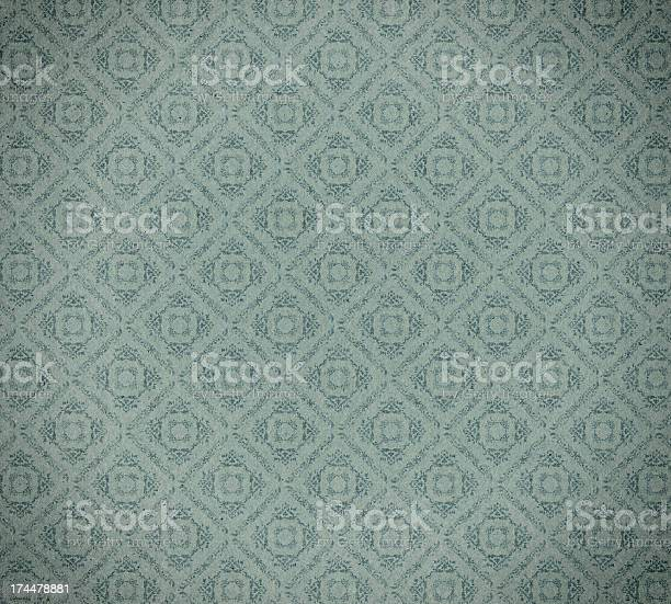 Faded Wallpaper With Checked Floral Pattern Stock Photo Download Image Now Istock