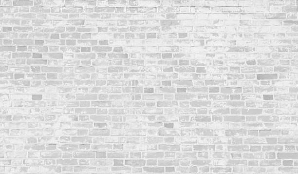 Faded white brick wall background. stock photo