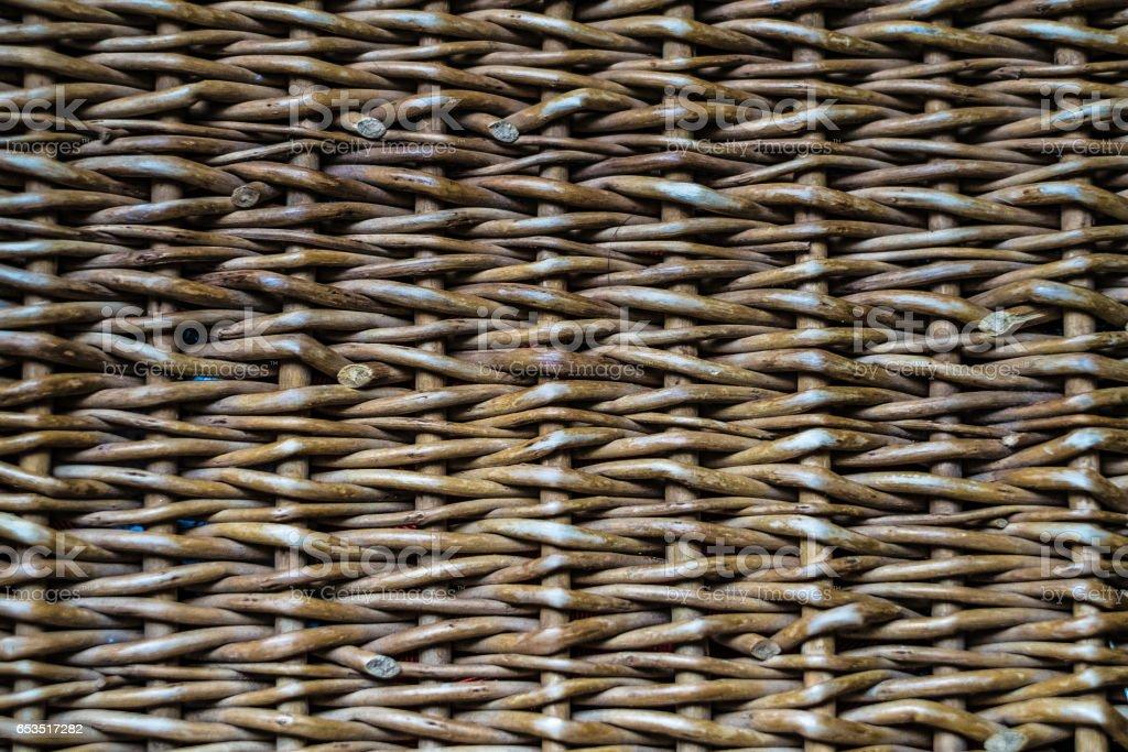 Faded wicker stock photo