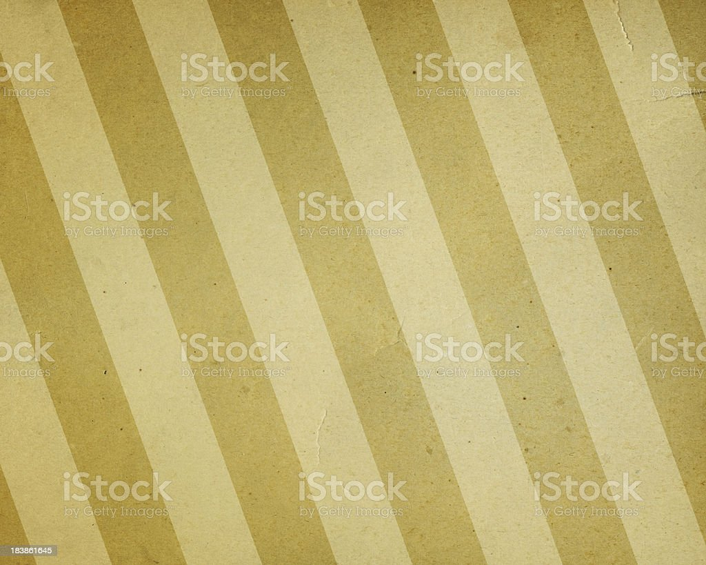 faded yellow and beige striped paper royalty-free stock photo