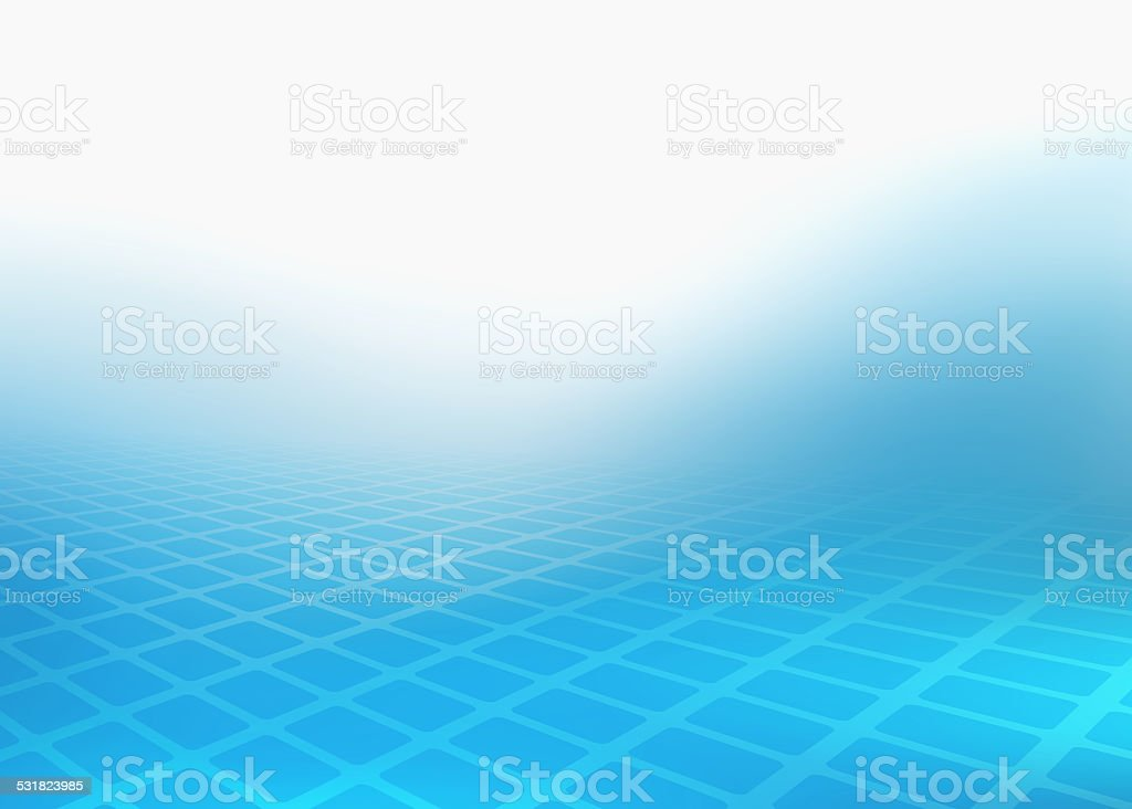 Fading Blue Rectangles into the Light stock photo
