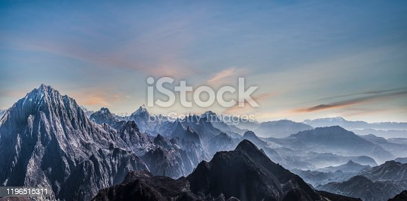 Fading Mountain landscape of Himalayas