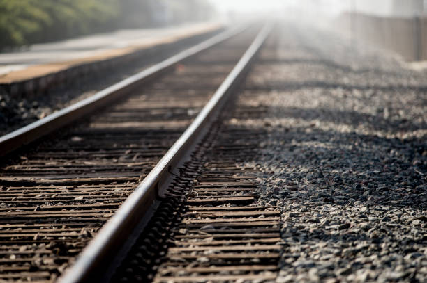 fading tracks - rail stock photos and pictures
