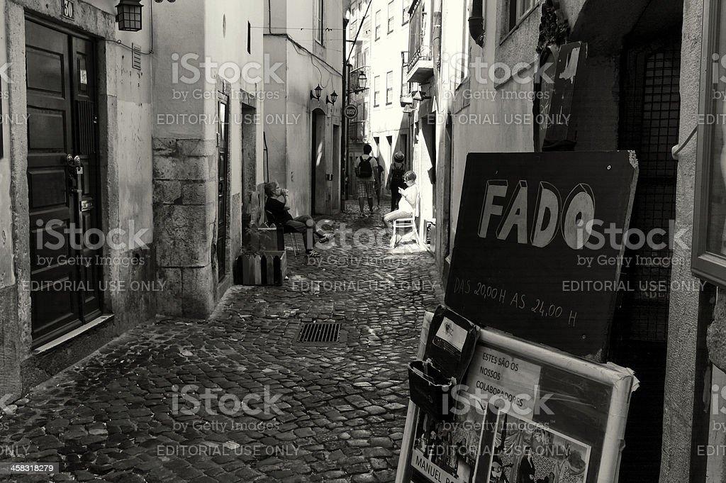 Fado in Lisbon stock photo