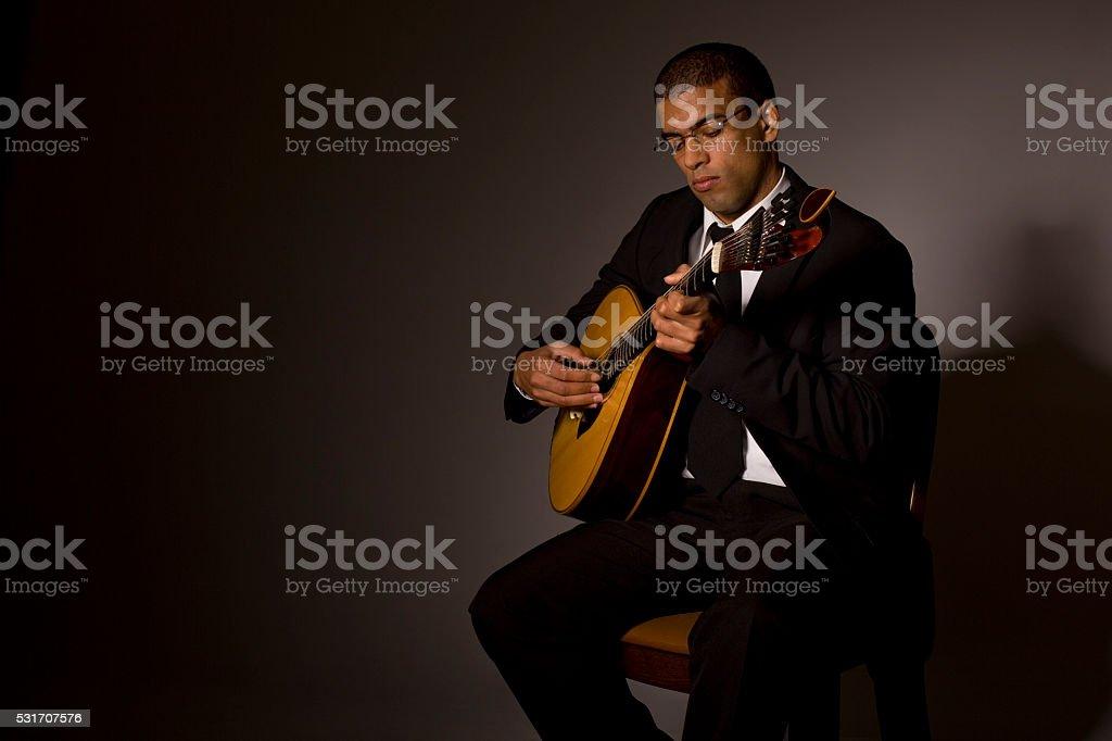 fado musician stock photo