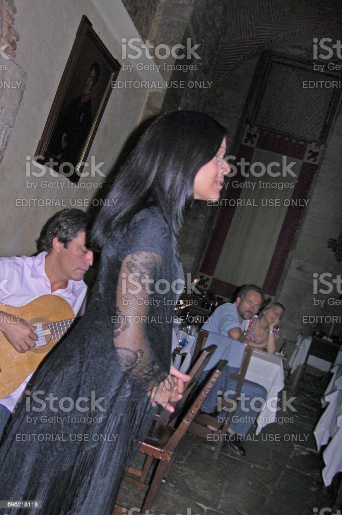 A fado singer in Portugal stock photo
