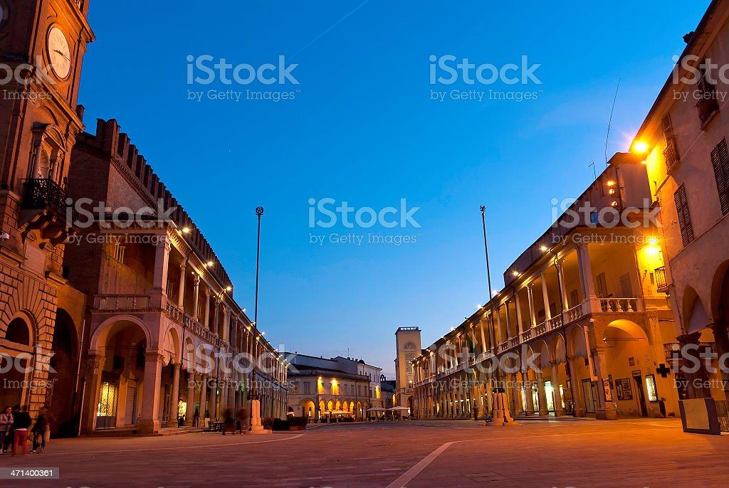 Faenza main square - market stock photo