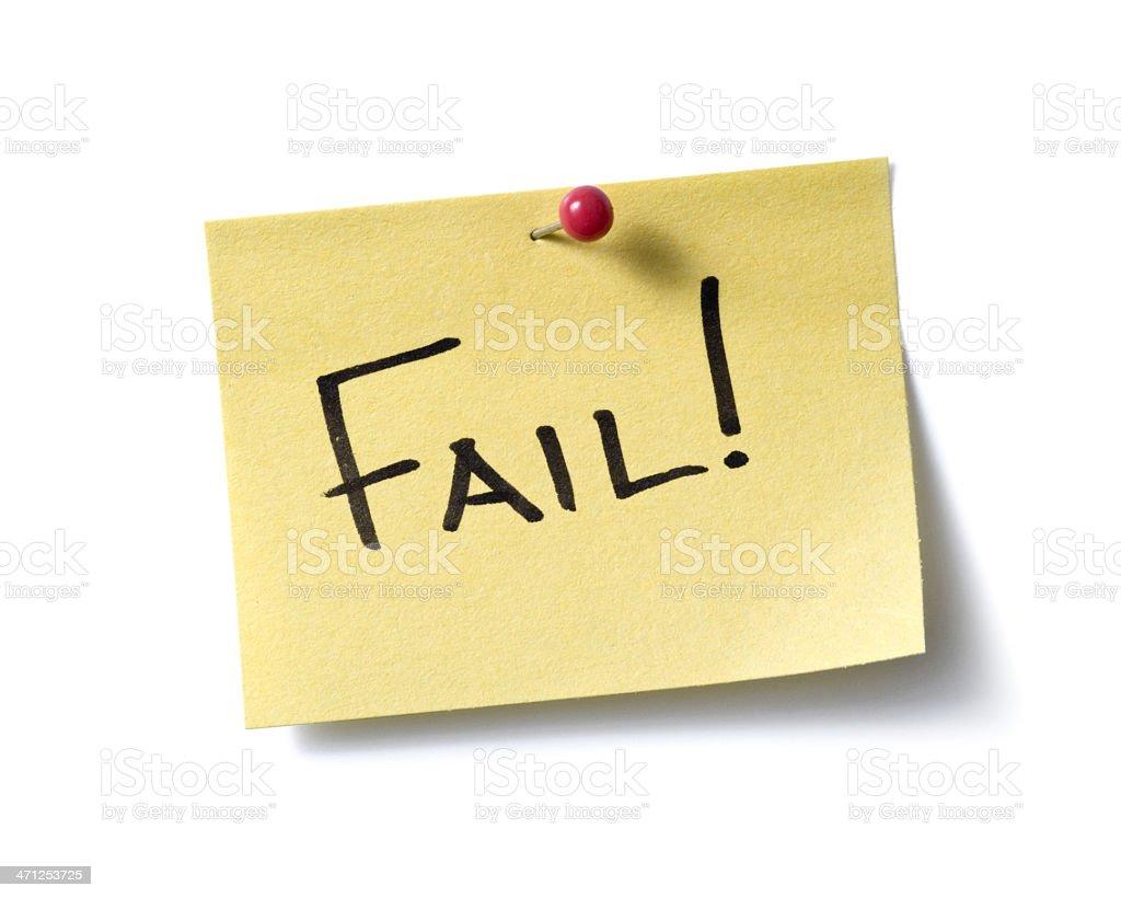 Fail! post-it. royalty-free stock photo