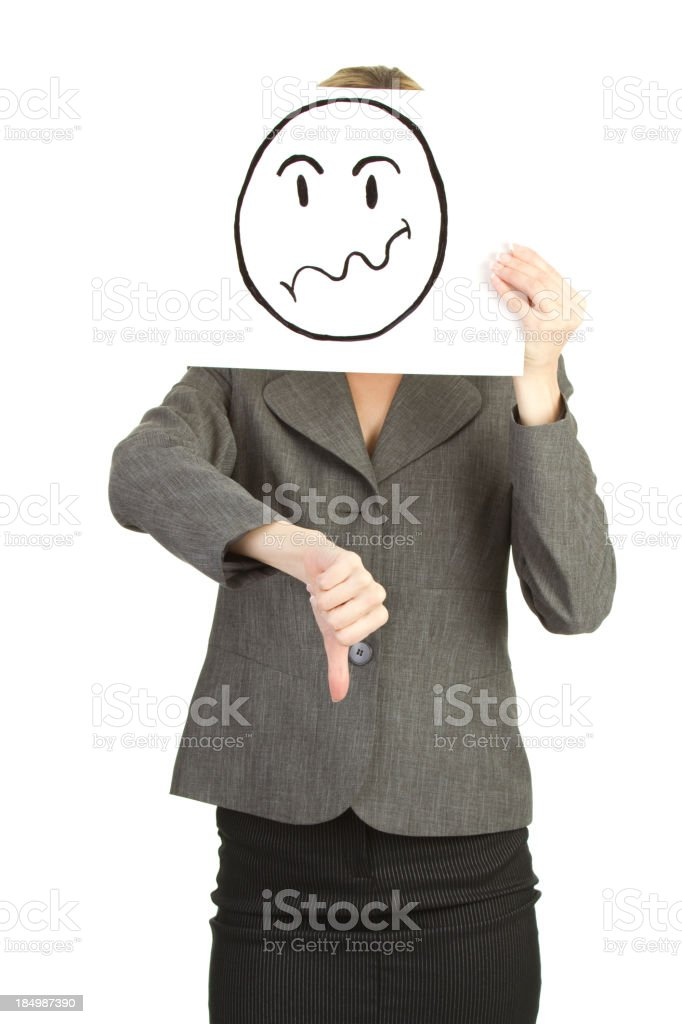 failed business woman royalty-free stock photo