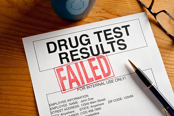 Failed Drug Test stock photo