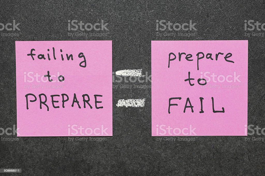 failing to prepare stock photo