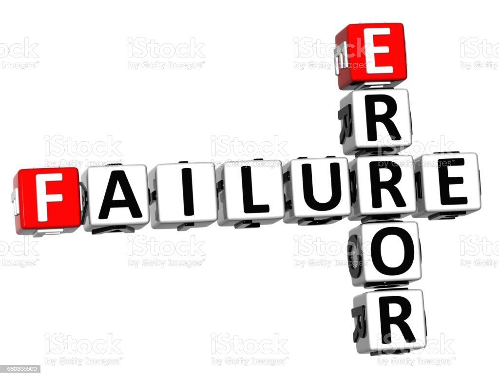 3D Failure Error Crossword royalty-free stock photo