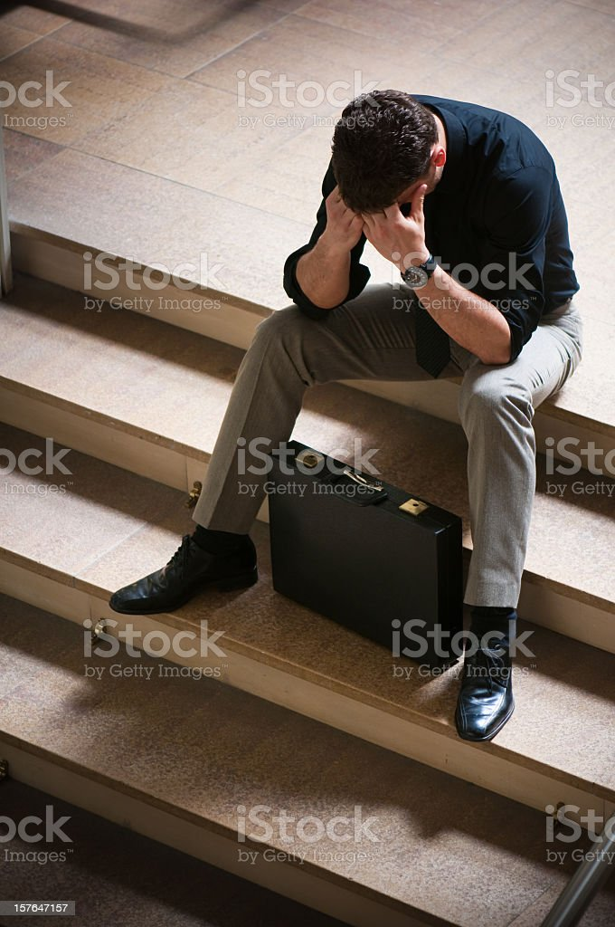Failure of a Business Man royalty-free stock photo