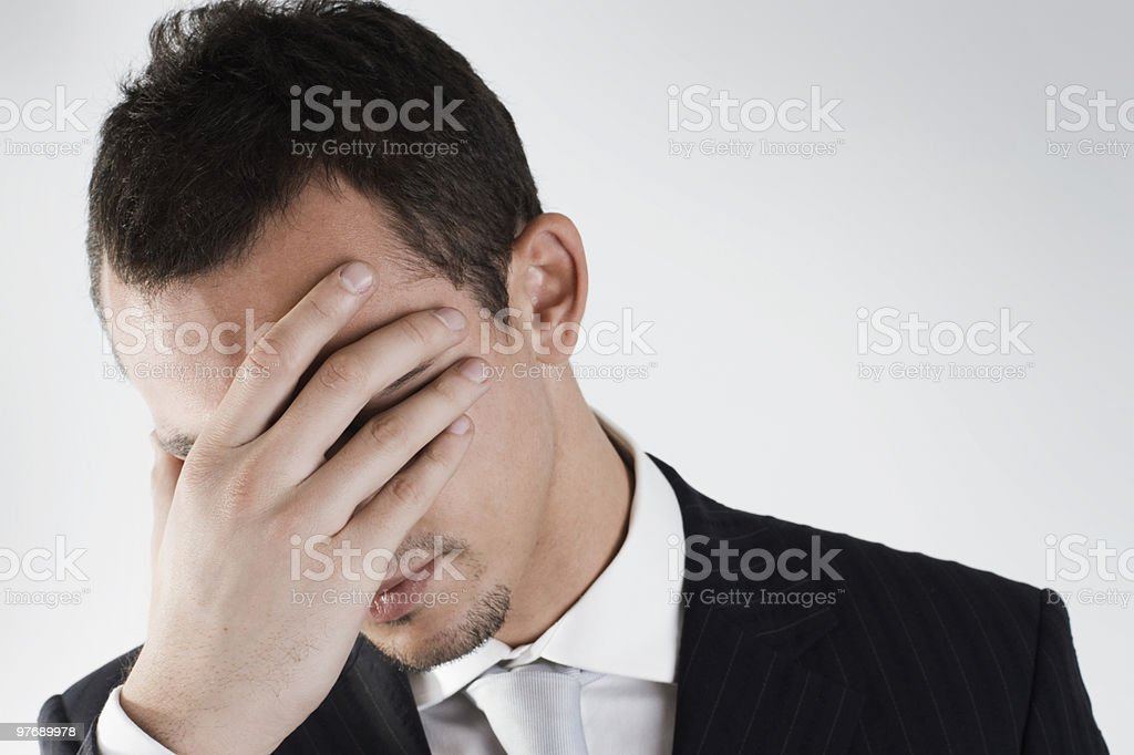 failure of a young businessman royalty-free stock photo