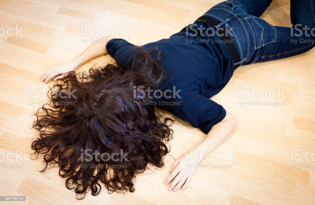Fainted woman stock photo