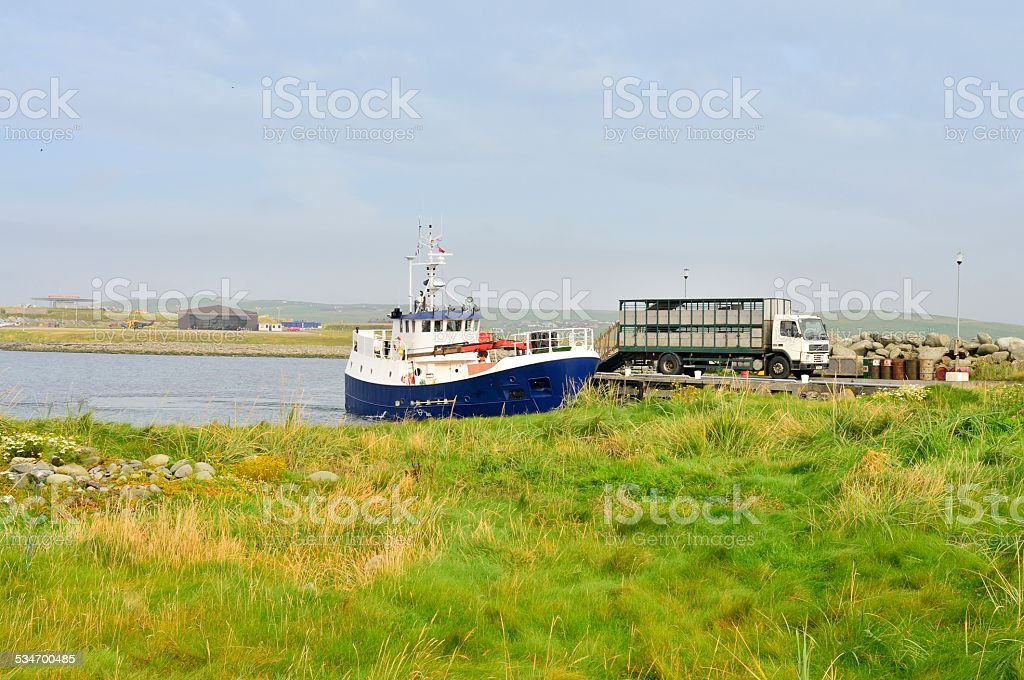 Fair Isle Ferry Docking At Grutness stock photo | iStock
