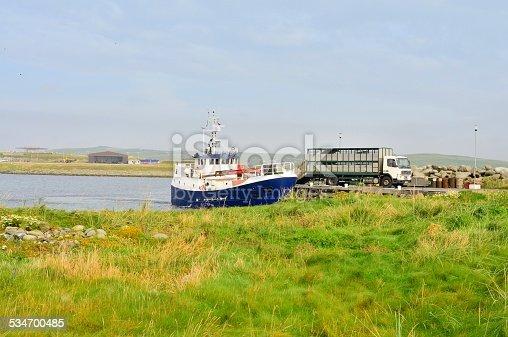Fair Isle Ferry Docking At Grutness stock photo | iStock