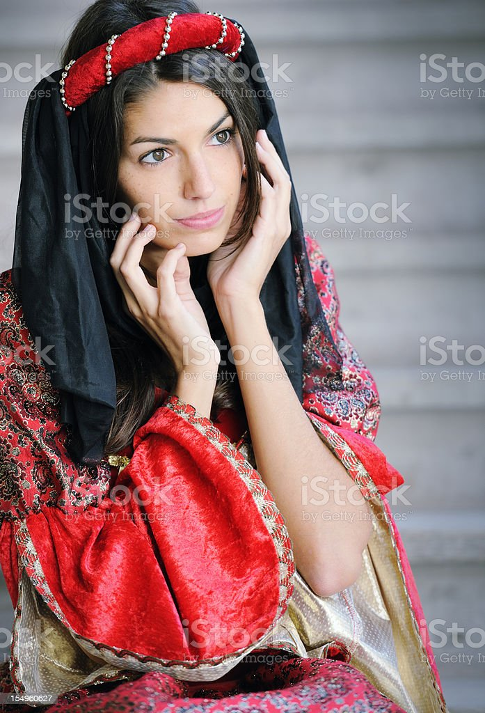 Fair Maiden Day Dreaming (XXXL) royalty-free stock photo