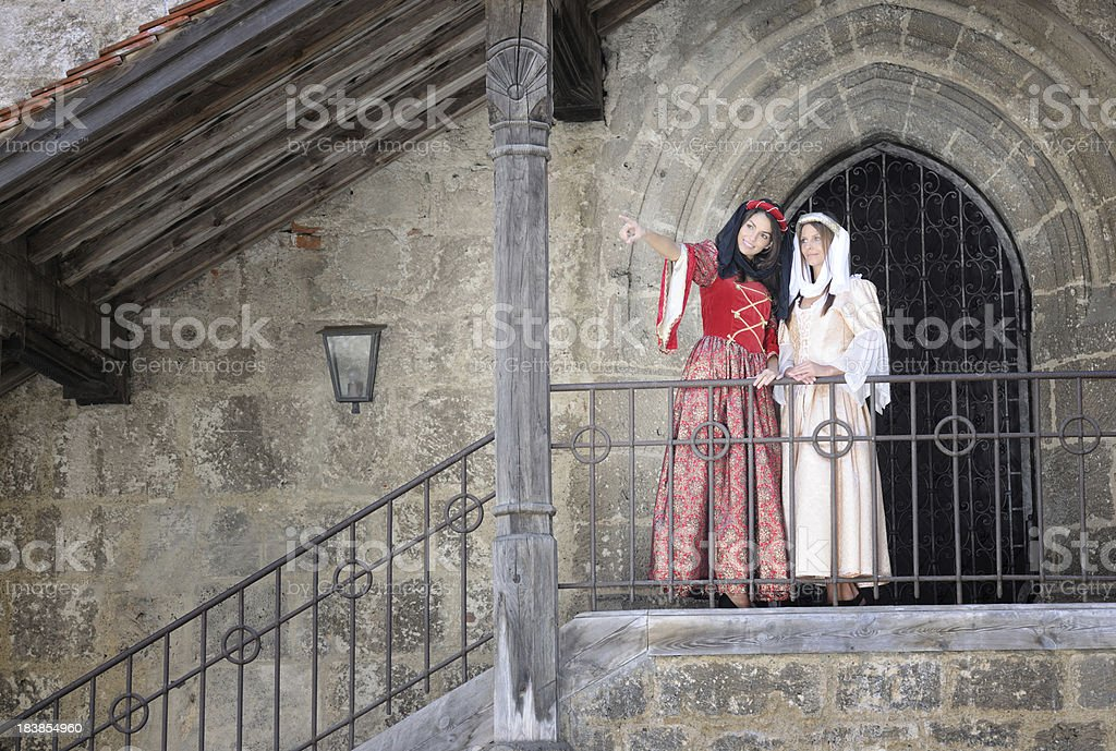 Fair Maiden in Medieval Dresses (XXXL) royalty-free stock photo